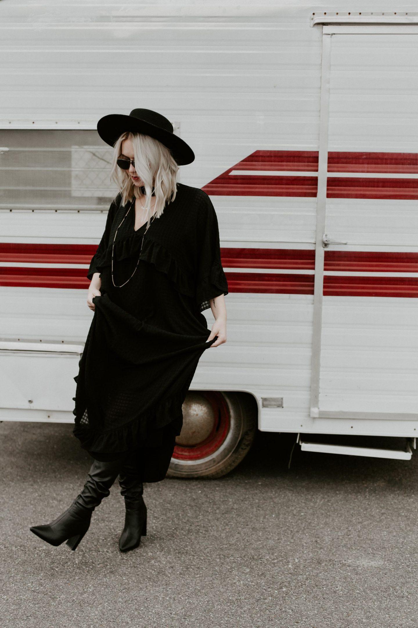 black dress cathclaire