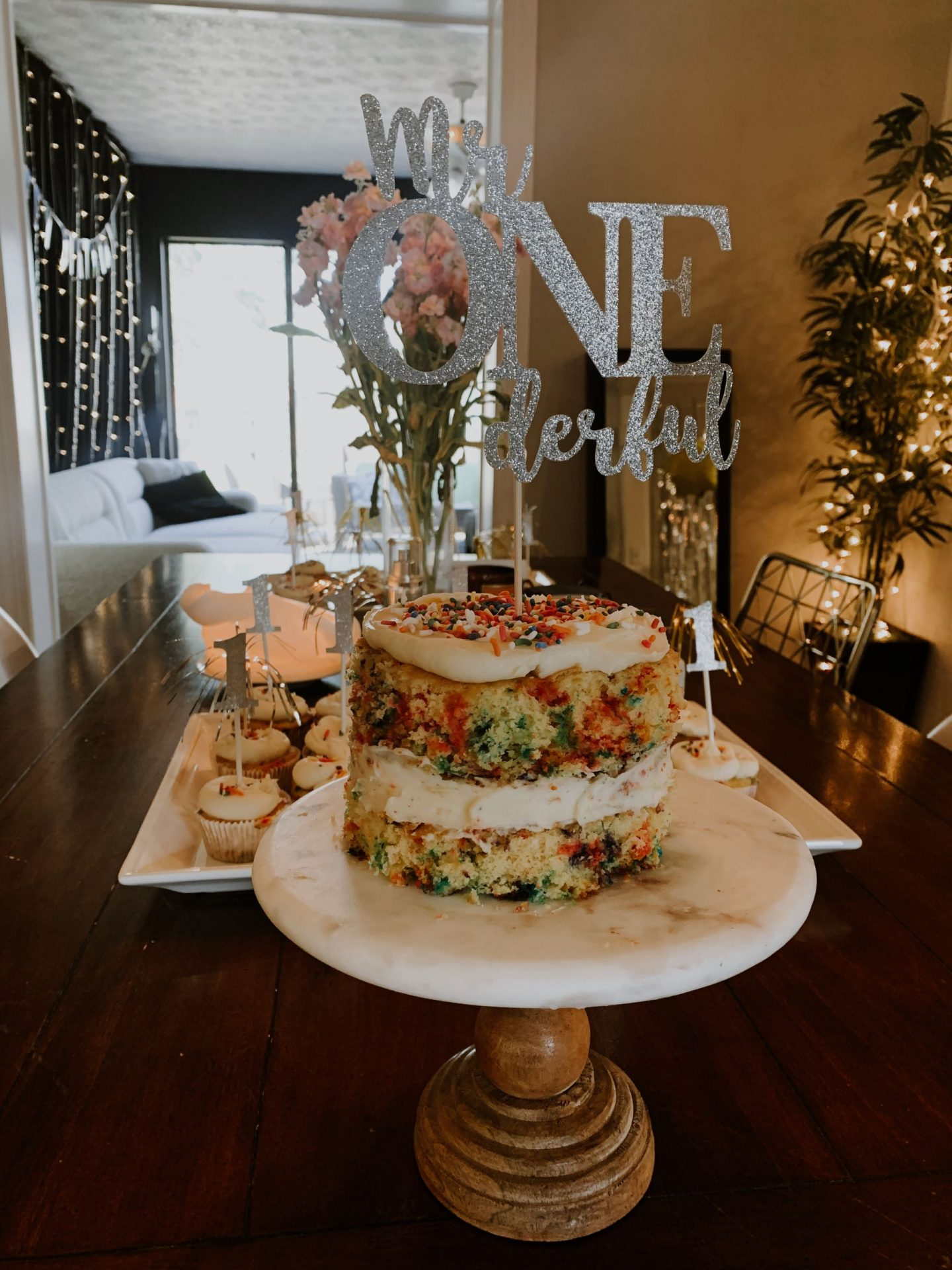 one year old party decor blog