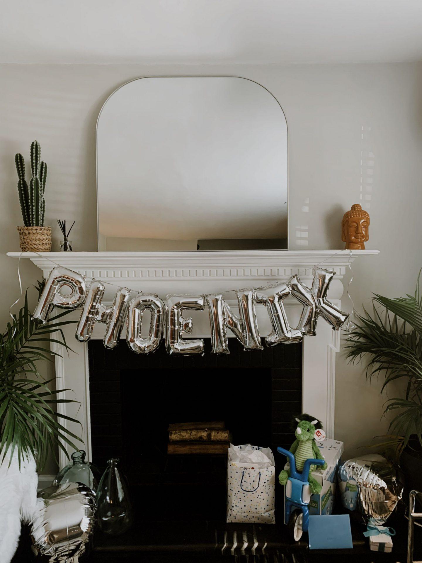 phoenix birthday party decor